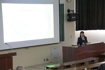 続いて茨城県北海道事務所次長からの講演で始まりまりました。