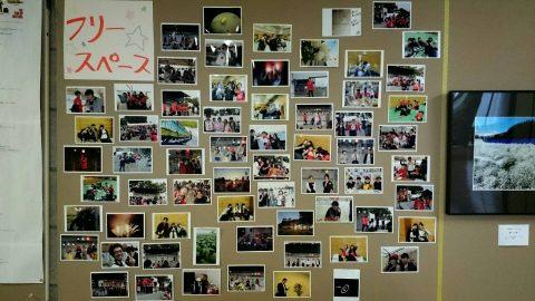 本学1Fで気軽に写真展示できるフリースペース