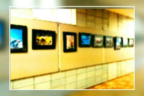 本学1Fの廊下にOB部員写真も常設展示