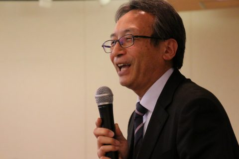 山田保育学科長から労いの言葉をいただきました