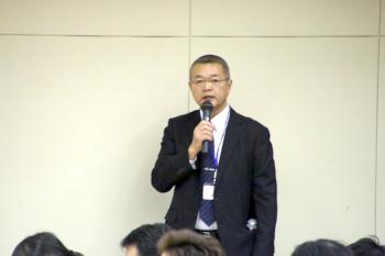 本日司会を担当された農学ビジネス学科田中先生から閉会が告げられました