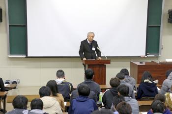 篠塚学長開会挨拶