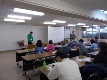 第5回市民講座の開会です。保坂先生のご挨拶
