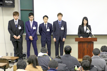 沼畑実行委員長の開会挨拶と実行委員メンバー