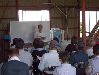 好天の金講義が始まり、大道教授から北海道の水害の被害について話題提供がありました。