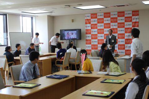 まずは、山田入試広報委員長の歓迎のご挨拶からスタートです♪