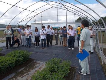 旭川市農業センター試験圃場を視察