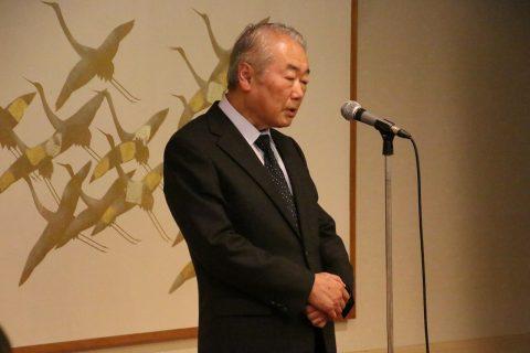 主催者である篠塚学長のご挨拶