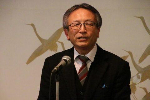 山田保育学科長から全国連覇のお祝い