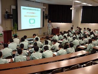 田中農学ビジネス学科長による歓迎の挨拶と北海道農業の概要説明