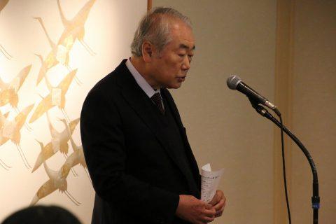 主催者である篠塚学長の挨拶
