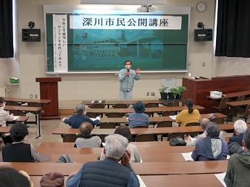 大道教授によるサツマイモ栽培講座開始