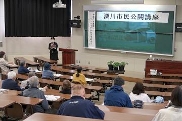 深川市教育委員会西野課長補佐による開会挨拶