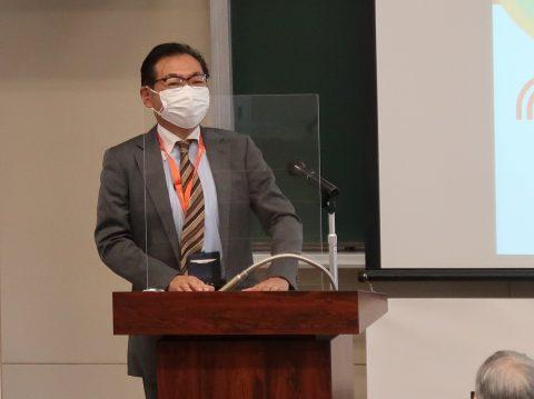 本学 廣瀬事務部長の閉会の挨拶