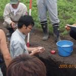 土壌硬度を測定