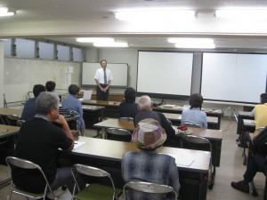 山田先生開講の挨拶
