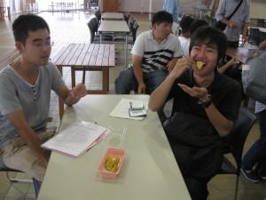 実際にサツマイモのスイートポテトの試食!美味い!!