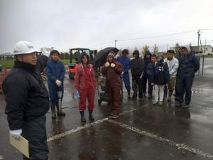 雪交じりの中1,2年生22名(内女子学生3名)が無事合格しました。
