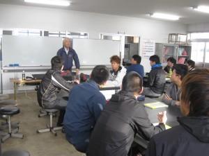 1 技能講習会が始まりました。最初は座学です。